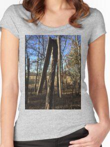 Lightening Struck Tree Women's Fitted Scoop T-Shirt