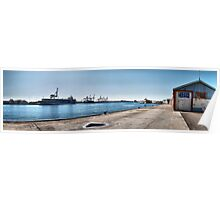 Fremantle Harbour from the Maritime museum Poster