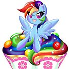 PonyCake Rainbow Dash by BambooDog