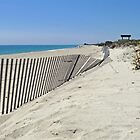 Toward Moonstone Along the Beach Fence by Jack McCabe