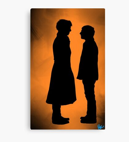 the doctor and his detective  Canvas Print