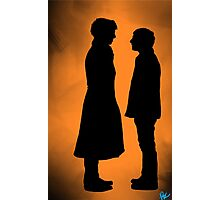 the doctor and his detective  Photographic Print