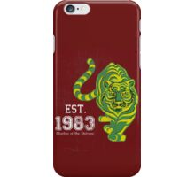 (FOR LIGHT COLORED SHIRTS & Stickers) MOTU Battle Cat He-man Cringer 1983 Tiger Green Yellow Stripes Cartoon Action Figure 80s Baby BEST FOR LARGE POUCHES iPhone Case/Skin