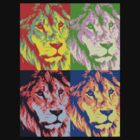 Lion Pop Art by Vanessa Bowen