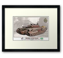 Heavy Infantry Tank Mk. IV Framed Print