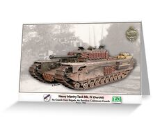 Heavy Infantry Tank Mk. IV Greeting Card
