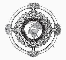 Earth Mandala (black) by Emilie Desaunay