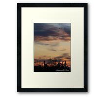 silhouette at dusk Framed Print