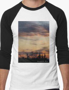 silhouette at dusk Men's Baseball ¾ T-Shirt