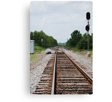 Right on Track Canvas Print