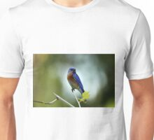 Blue Bird Pose Unisex T-Shirt