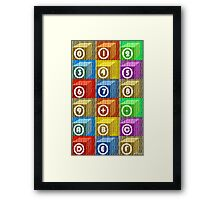 EIGHTEEN BLOCKS Framed Print