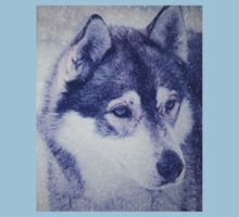 Beautiful husky dog portrait Kids Tee