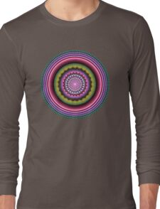 Colourful Mandala with tribal patterns Long Sleeve T-Shirt