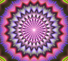 Colourful Mandala with tribal patterns Sticker