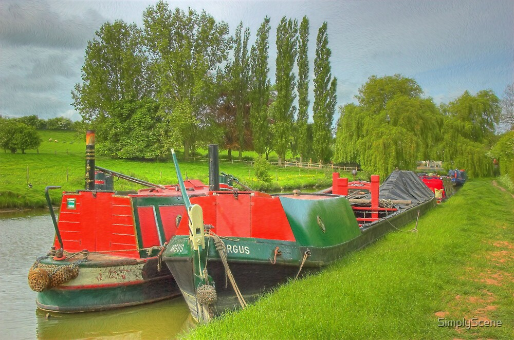 Working Narrowboats Bletchley and Argus - Buckby Flight by SimplyScene