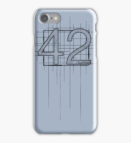 Hitchhiker's Guide to the Galaxy - 42 iPhone Case/Skin