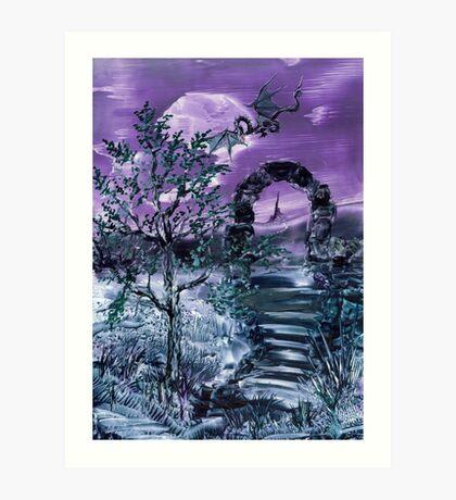 Dragon  Moon Art Print