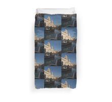 Roman Morning - Shadow and Light on Piazza Navona, Rome, Italy Duvet Cover