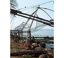 Cochin fishing nets, South India Photographic Print