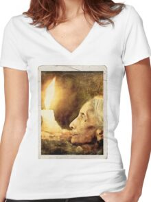 Me and my loneliness. Women's Fitted V-Neck T-Shirt