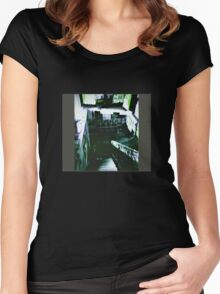 Last days of Skinny's Record Basement Xpro Holga Brisbane Women's Fitted Scoop T-Shirt