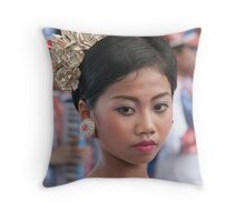 Marching Girl Throw Pillow