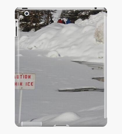 Caution thin ice iPad Case/Skin