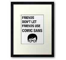 Sarcastic Hipster Funny Helvetica Nerd Designer Shirt Framed Print