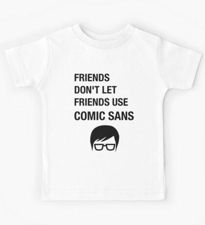 Sarcastic Hipster Funny Helvetica Nerd Designer Shirt Kids Tee