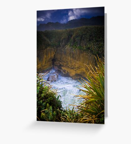 Pancake Rock Greeting Card