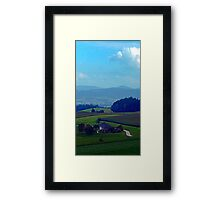 Countryside scenery in autumn | landscape photography Framed Print
