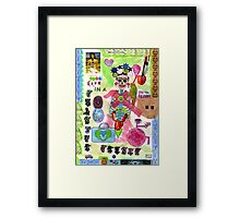 'I live in a painful planet' Framed Print