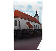 The village church of Waldburg 3   architectural photography Poster