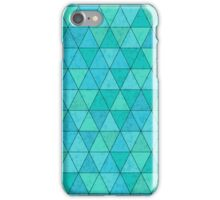Triangles pattern with texture overlay iPhone Case/Skin