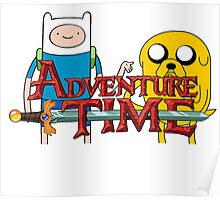 Adventure Time, Jake and Fin Poster