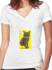 Philosopher Tabs Women's Fitted V-Neck T-Shirt
