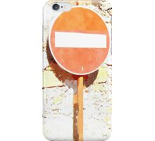 Laureana Cilento: road sign iPhone Case/Skin