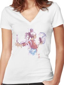 Perspective of Chihiro by Harantula Women's Fitted V-Neck T-Shirt