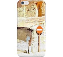 Laureana Cilento: church and road sign iPhone Case/Skin