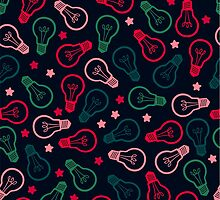 Party Lightbulb Pattern by XOOXOO