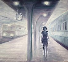 A recurring dream of a train and a misterious woman by Corina Chirila