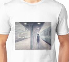 A recurring dream of a train and a misterious woman Unisex T-Shirt