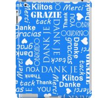 Thank You in Different European Languages iPad Case/Skin