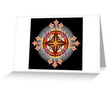 Flamboyant Solar Fleurs (OverFlowered version) Greeting Card