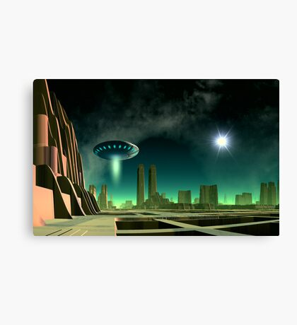 On a Beam of Light - Exploring New Worlds Canvas Print