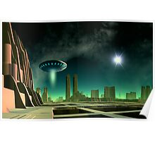 On a Beam of Light - Exploring New Worlds Poster