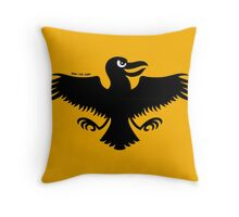 Halloween Naughty Crow Throw Pillow