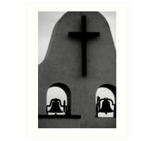 In the City of Crosses Church Art Print