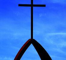 Cross in the Blue Sky by julesdavis